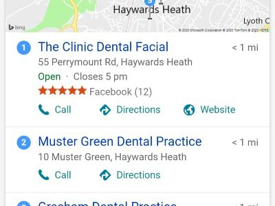 Bing Places For Business, [dentist near me] search