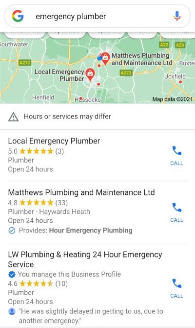 LW Plumbing & Heating 24 Hour Emergency Service